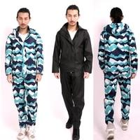 Thin Raincoat Poncho Women Men Waterproof Rain Coat Pants Set Outdoor Split Rain Suit Chubasqueros Impermeables