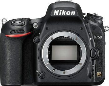 Nikon D750 DSLR Full Frame Digital Camera -24.3MP FX-Format -Full HD 1080p Video -3.2″ Tilting LCD Wi-Fi (Body Only,New)
