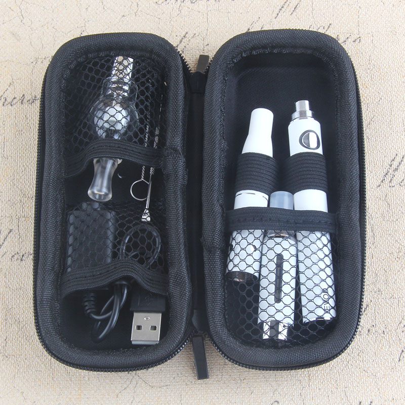 Kingfish Dry herb vaporizer EVOD 3 In 1 evod Batery with Atomizers Wax Electronic cigarette smoker e zipper bag Kit
