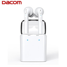 Dacom Wireless Bluetooth Earphone Stereo With Microphone Portable Noise Cancelling Earbuds Earhook Headset For iphones