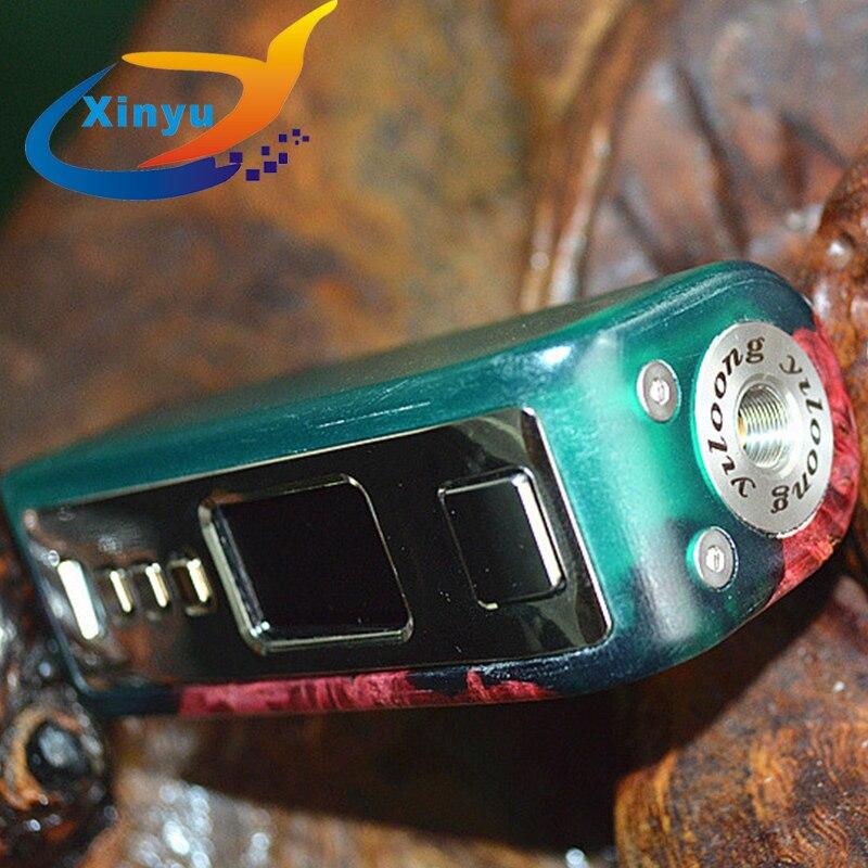 Original Yiloong brumisateur boîte de brouillard DNA75/75c stabilisé bois 75 w Kit Vape boîte TC Mod 0.2-6.2 v tension 3500 mah batterie intégrée