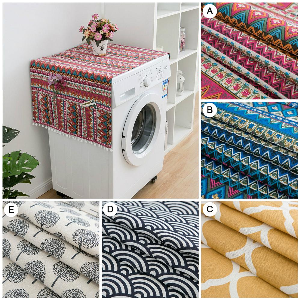 Ethnic Style Refrigerator Dust Proof Cover Japanese Geometric Pattern Single Drum Washing Machine Towel Protective Cove Refrigerator Covers Aliexpress