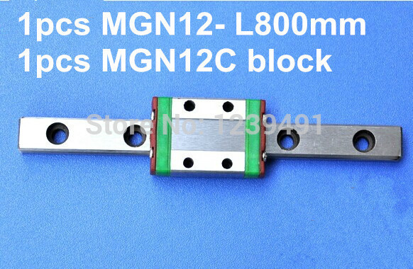 1pcs MGN12 L800mm linear rail 1pcs MGN12C carriage in Linear Guides from Home Improvement