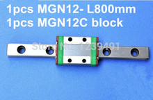 1pcs MGN12 L800mm linear rail + 1pcs MGN12C carriage 1pcs mgn12 l350mm linear rail 1pcs mgn12c