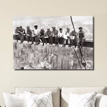 Wall art Build Labourer Canvas Painting Cuadros Decoration Quadro Modern Wall Pictures For Living Room Black And White No Frame