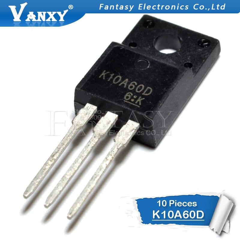 10pcs K10A60D TO-220F TK10A60D TO-220F 10A60 TO220 New Original