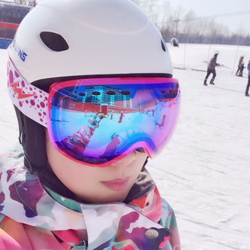 Gsou снег спортивные лыжи открытый Mountain сноуборд женщины Очки очки Взрослый Снегоход кататься на лыжах УФ-защиты очки