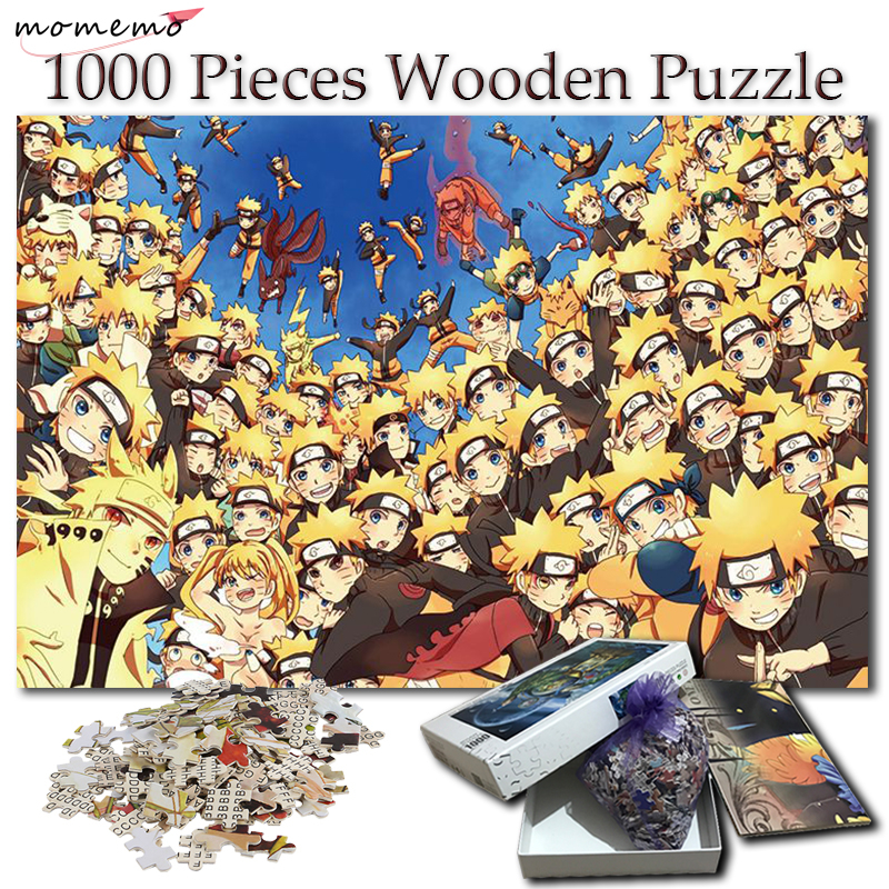 MOMEMO Jigsaw Puzzle 1000 Pieces Naruto Uzumaki Cartoon Anime Wooden Puzzles NARUTO Toys for Adult Children