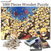 MOMEMO Jigsaw Puzzle 1000 Pieces Naruto Uzumaki Cartoon Anime Wooden Puzzles NARUTO Toys for Adult Children