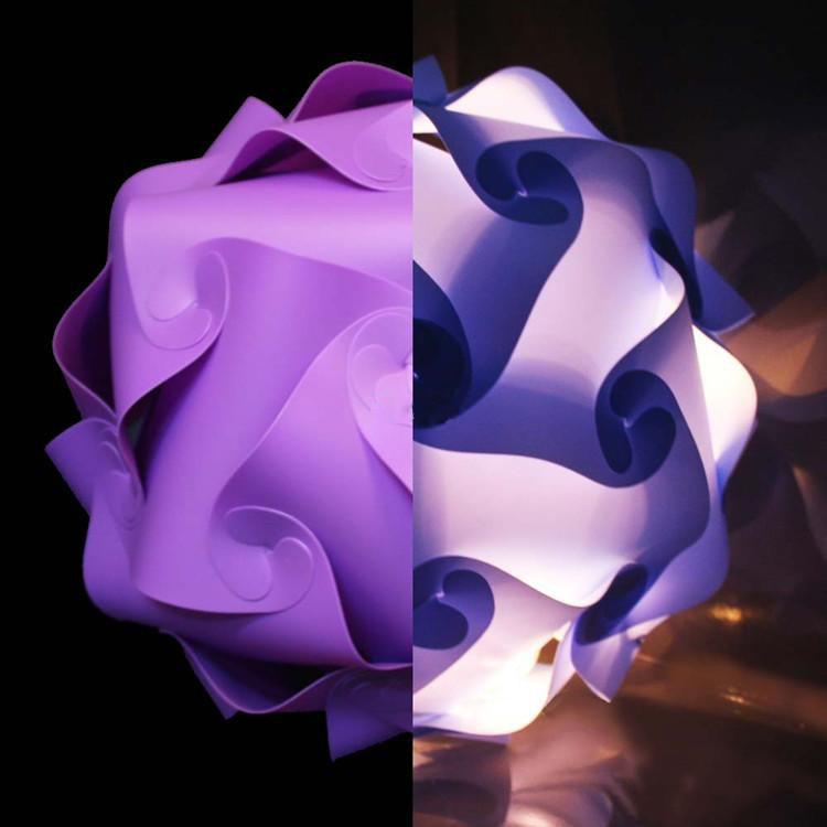 New Modern DIY Pendant IQ Jigsaw Puzzle IQ lamp light purple color pendant lights,size 25cm/30cm/40cm YSLIQPE free shipping blue magnetic rotation p093 bsk piececool 3d laser cutting jigsaw puzzle diy metal model nano puzzle toys for audlt