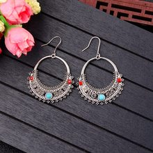 TopHanqi 2018 Hot Sell Hollow Indian Jhumka Waterdrop Tassel Earrings For Women Gypsy Jewelry Boho Vintage Ethnic Metal