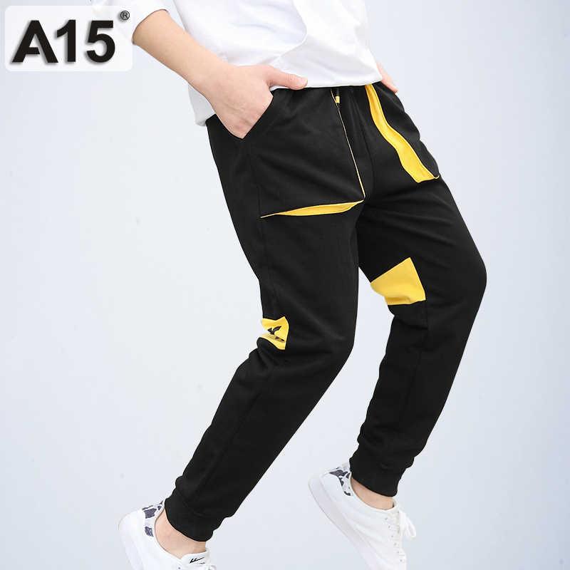 A15 штаны для мальчиков хлопковые длинные повседневные школьные новинка 2018