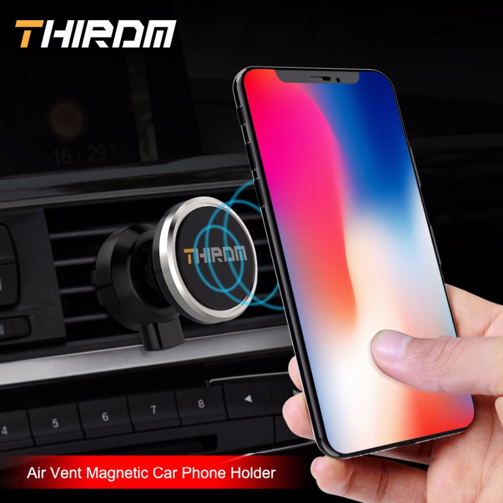 THIRDM 360Degree Rotation Air Vent Magnetic Car Phone Holder Mount Clip Clamp Stand support smartphone Mobile Bracket iPhone 78X