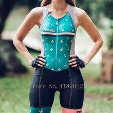 2019 Frenesi Women skinsuit sexy body Small shoulder strap cycling jersey triathlon Maillot ciclismo bike