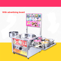 Commercial Fancy Gas Cotton Candy Maker DIY Sweet Candy Sugar Floss Machine Stainless Steel Snack Equipments Stalls Flower LP H1