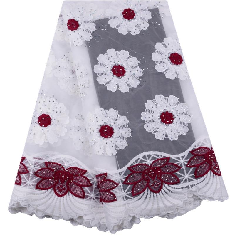 2019 Beautiful African Guipure Lace African Cord Lace Fabrics High Class Milk Silk Lace Fabrics Flower
