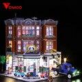 Lumière LED pour LEGO2019 nouvelle rue série 10264 rue coin voiture station de réparation blocs de construction assemblés jouets (seulement des lumières)