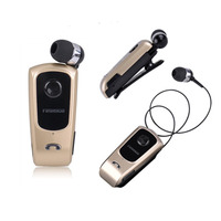 FineBlue F920 Wireless Bluetooth Headset Support Calls Vibration Remind Collar Clip Garnish Earbuds Earphones With Mic