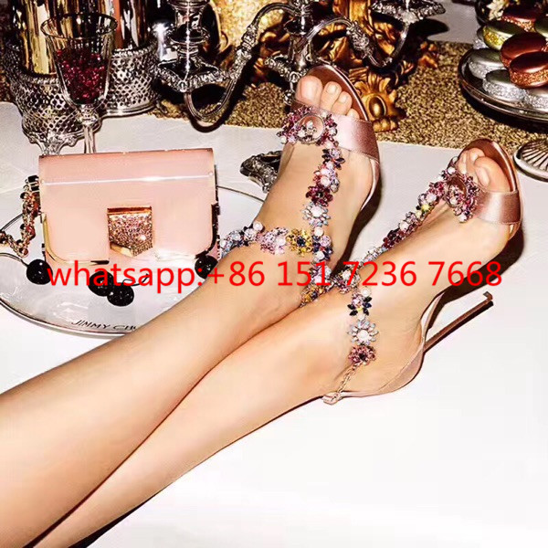 Summer New Rhinestone Gladiator Sandals Women 2017 Sexy High Heels Wedding Shoes Woman Peep Toe Strap Real Leather Women Pumps 2017 new sexy thin high heels peep toe shoes woman sandals genuine leather women silver party wedding gladiator summer sandals