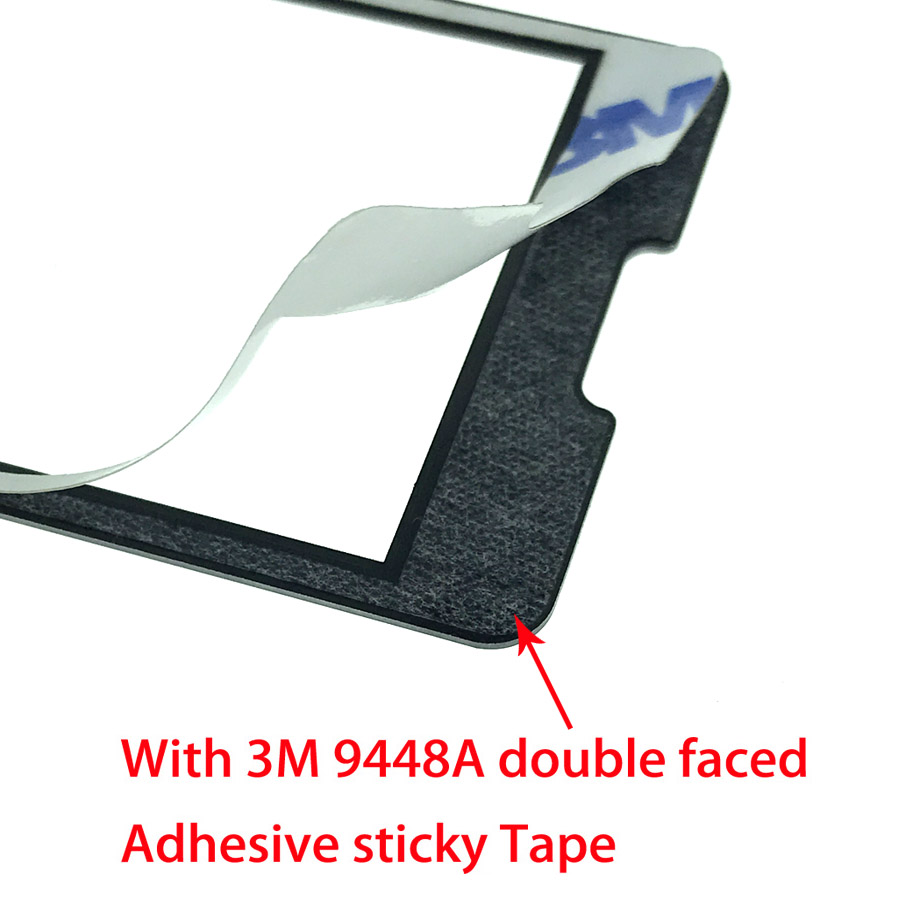 2pcs NEW For <font><b>PHILIPS</b></font> Xenium <font><b>X1560</b></font> Panel lens Not Glass Touch Screen With 3M 9448A double faced Adhesive sticky Tape image