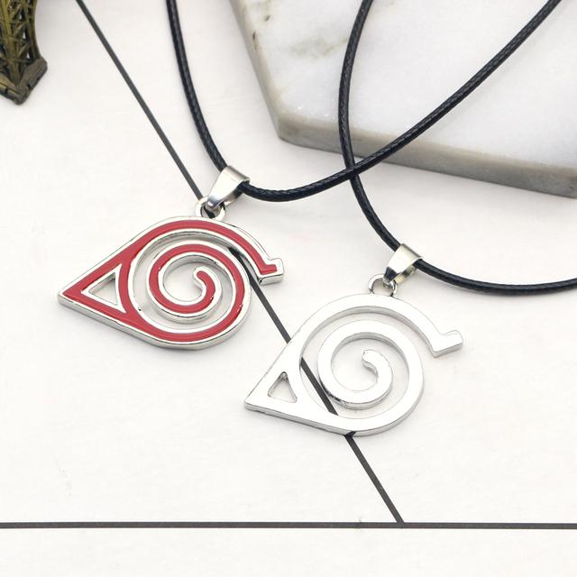 Collar con símbolo de la aldea de Naruto