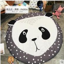 Cartoon Flamingo Cactus Printed Carpets Coral Velvet Floor Mat Round Carpet for Kids Bedroom Living Room Play Tent Area Rug
