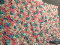 2.4M x 2.4M Wedding Flower Wall Pink with white Rose & Hydrangeas flower backdrop wedding stage decoration