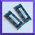Комплект 2 ГБ 2 x 1 ГБ PC2 5300 DDR2 667 SO-DIMM 200-контактный 667 мГц 2 г NON-ECC 512ram портативный ноутбук озу бесплатная доставка