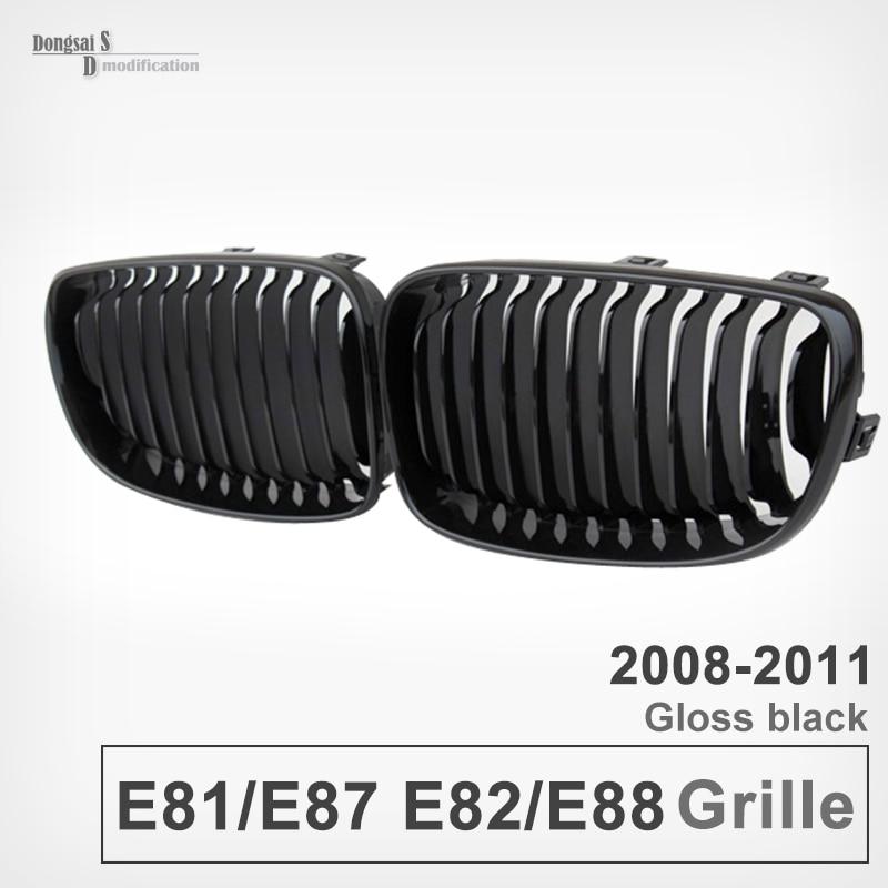 1 Series e81 e87 e82 e88 Front Grill ABS Glossy Black Grille for BMW 2008 - 2011 116i 118i 118d 120i 120d 123d 125i 128i 130i bmw 116 i в минске