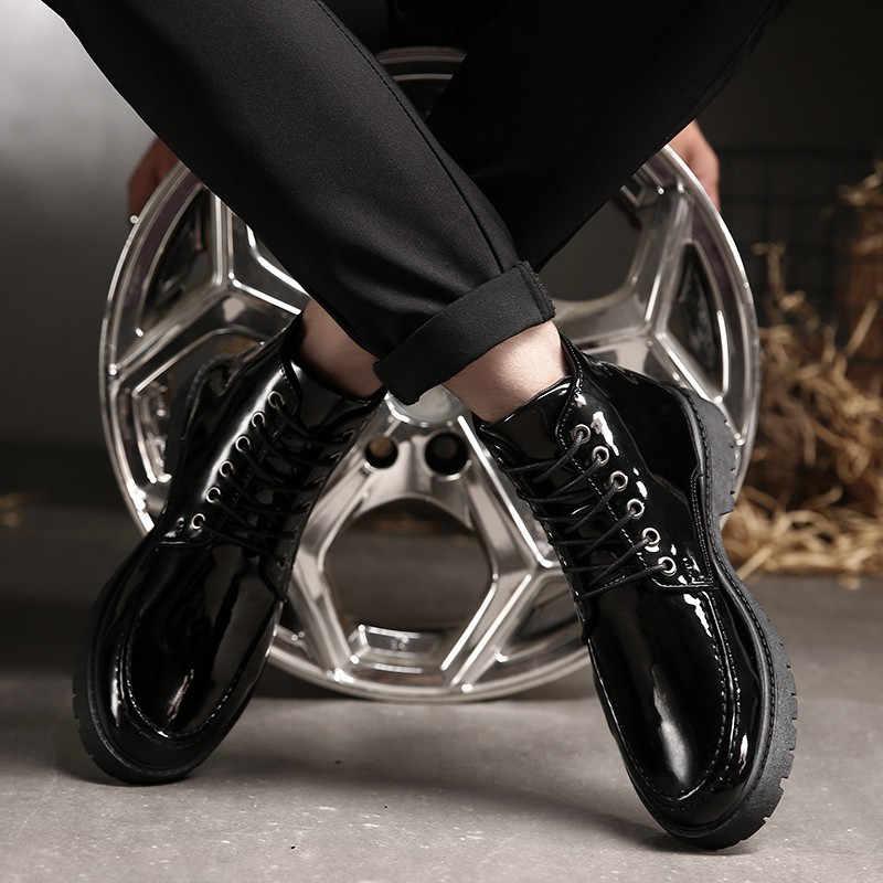 Дизайнер Мартин мотоботы для Для мужчин хорошее качество Повседневное мужской обуви черный лодыжки военные ботинки в стиле панк Для мужчин модные Мужские ботинки