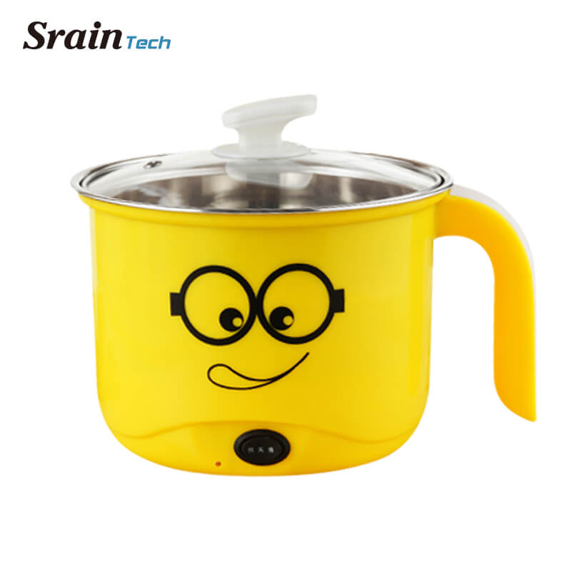 SrainTech Mini Multi Cookers 1.4L Perfect for Dorm Food Grade Stainless Steel Hot Pot Cooker Electric Soup Pots Mini Cookers 1kg food grade l threonine 99% l threonine