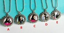 1pc chica vampiro colares para meninas colares de vidro antigo prata colares o tempo gem dos desenhos animados colares o melhor presente