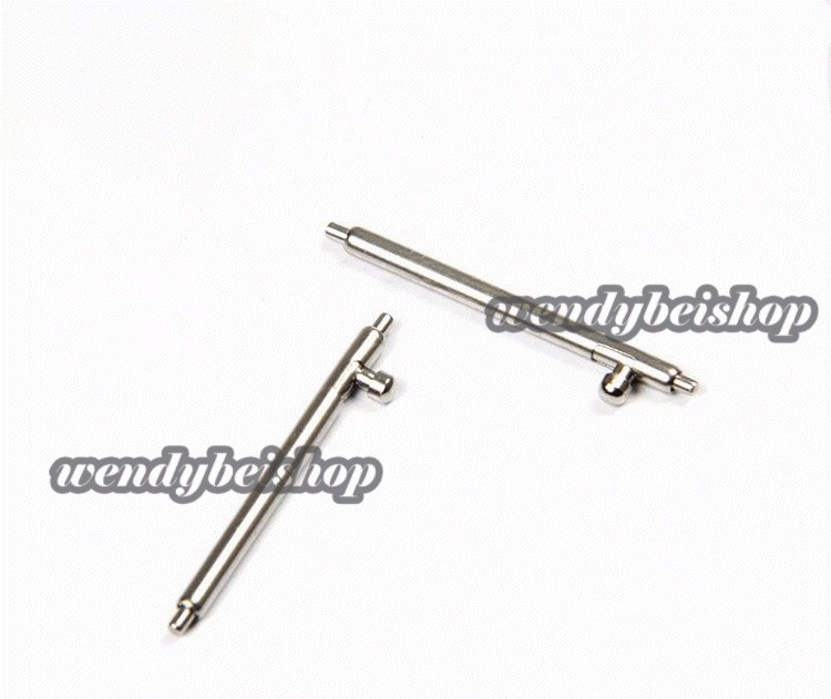 16 17 18 20 22 23mm(1.8mm diameter) 10pc Wholesale Newest <font><b>HQ</b></font> Quick Release Stainless Steel <font><b>Watch</b></font> Band Single Switch Spring Bar image