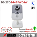 Hik ds-2cd2442fwd-iw 4mp poe cámara ip wifi con buit-en tarjeta sd micro ranura cube cámara pir