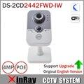 Hik ds-2cd2442fwd-iw 4mp poe câmera ip wifi com buit-in slot para cartão micro sd pir câmera cubo