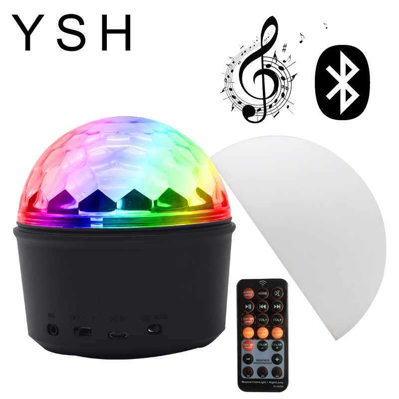Home Disco Lights: YSH LED Disco Light Ball Christmas Party Lights Indoor New