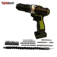Tenwa 25V Cordless Screwdrivers 19 Pcs Drill Bit Accessories 25NM Lithium Drill 15 1 Torgue Gears