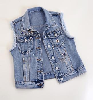 жилетка джинсовая женская 1