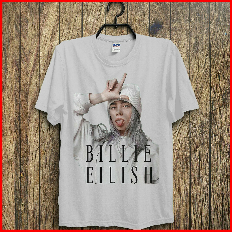 Hot Billie Eilish T Shirt Billie Eilish Fans T Shirt White Cotton Men Music Tee Sleeve Tee Shirt Homme T shirt in T Shirts from Men 39 s Clothing