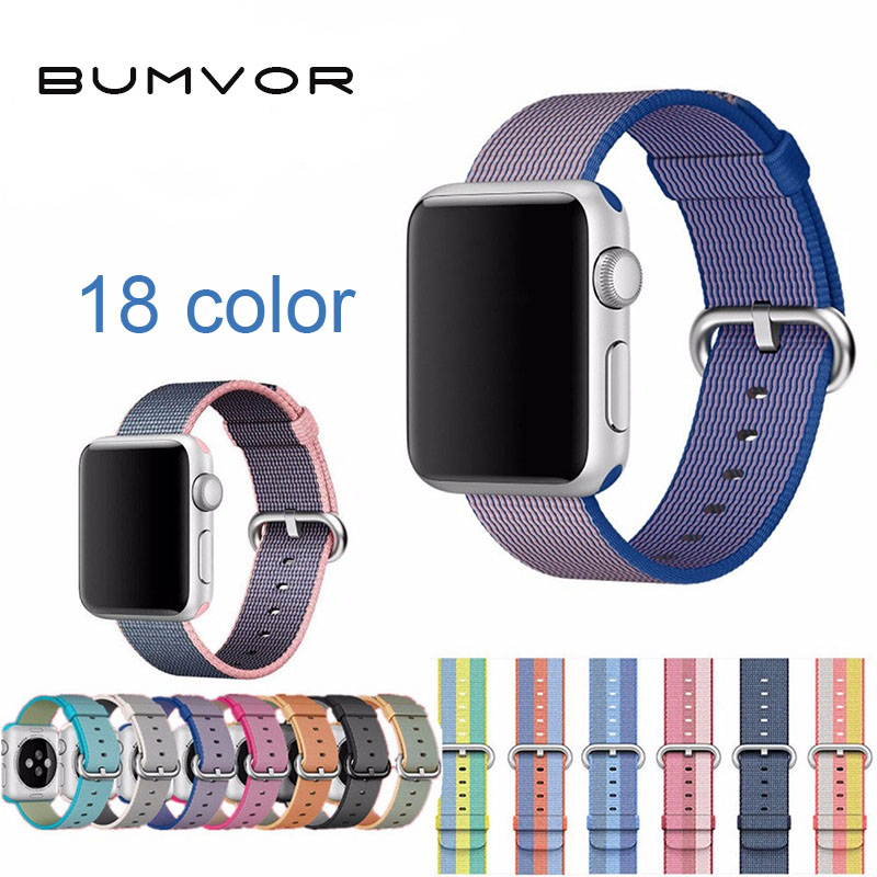 Woven Nylon strap For Apple Watch band 44/40mm wrist bracelet watchband for iwatch apple watch 42/38MM series 4/3/2/1 watch belt mu sen woven nylon band strap for apple watch band 42mm 38 mm sport fabric nylon bracelet watchband for iwatch 3 2 1 black