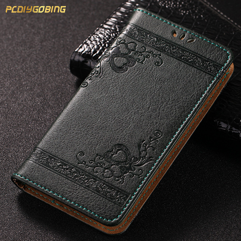 PDGB 3D Retro Flowers Cover Flip Wallet PU Leather Case For Cubot Note S Dinosaur Rainbow 2 R11 X18 Plus J3 Pro Power Nova