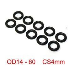 лучшая цена 100 PCS Black NBR rubber O ring O-ring Oring Sealing Rubber Gaskets CS 4mm x OD 14 15 16 17 18 19 20 21 22 23 24 25 26 27 60mm