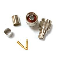 N male plug Crimp for LMR400 RG8 RG214 RG213 cable RF connector ADAPTER|Connectors| |  -