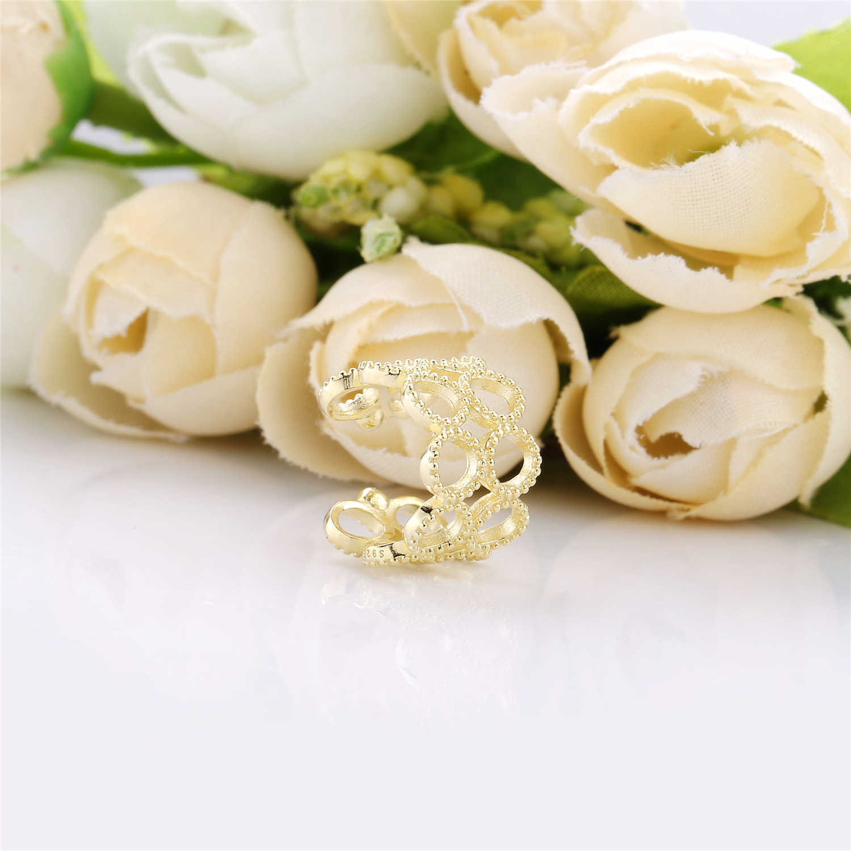 Slovecabin 925 Sterling Silver Penutup Kuping Klip Anting-Anting Tanpa Tindik Telinga Manset Fashion Anting-Anting untuk Wanita 2019 Laporan Perhiasan