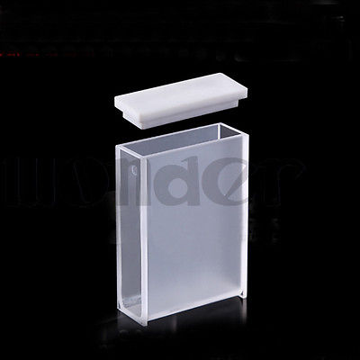 30mm Path Length JGS1 Quartz Cuvette Cell With Telfon Lid For Uv Spectrophotometers