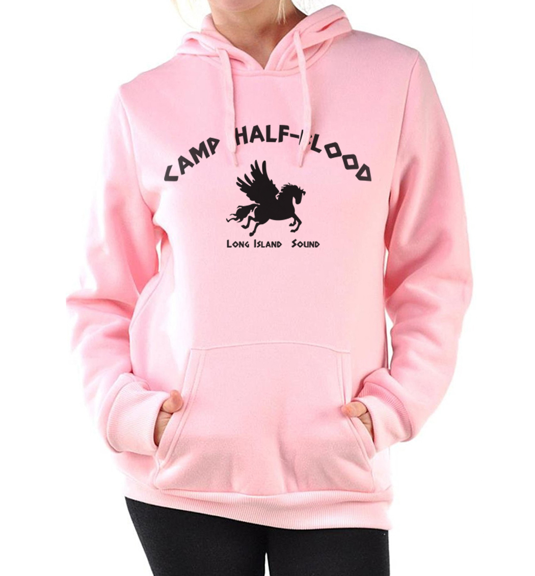 female harajuku fashion loose fit hoodies kpop Half-Blood Women fitness sweatshirts 2019 autumn pink tracksuits brand clothing