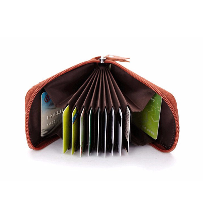 Miaoyi Business Women Card Holder Cards Men Card Pack PULeather CardHolder Zipper Credit Card Holder By