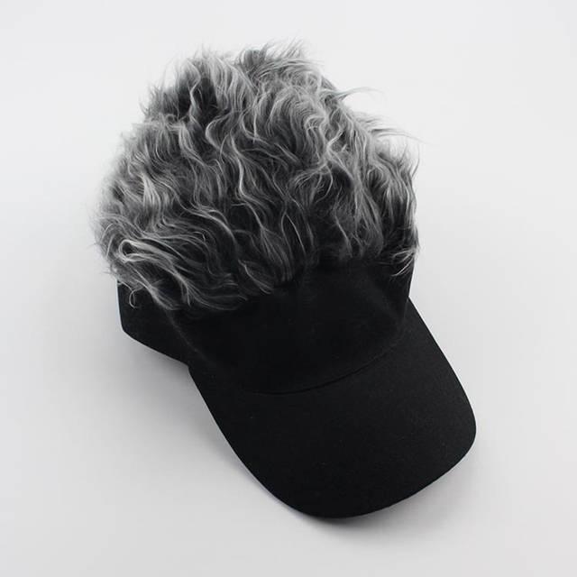 32524681eb49a Online Shop Funny Men Adjustable Wig Cap Unisex Flair Hair Visor Snapback  Casquette Hat Casual Golf Caps Outdoor Hats LTT9275