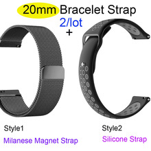 20mm Bracelet Band For Xiaomi Amazfit Bip Watch Strap Amazfit GTS Wristband Amazfit GTR 42mm Stainless Steel Metal Watchband все цены