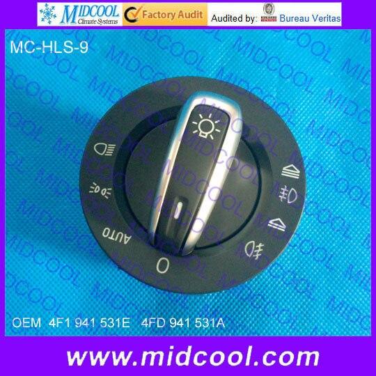 ALTA QUALIDADE Interruptor Do Farol PARA AUDI A6 OEM: 8E0 941 531A OEM 4F1941531D, 4F1941531E
